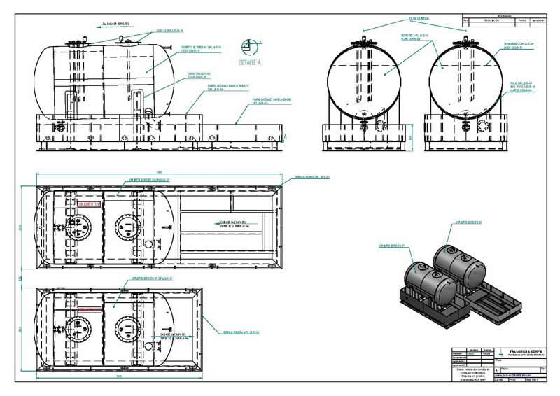 oficina técnica - planta productiva de productos de calderería