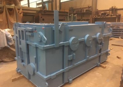 fabricación de depósitos de acetite rectangulares
