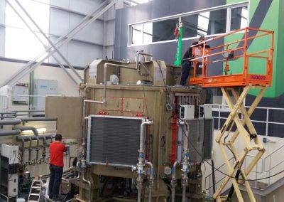 fabricación de máquinas de grandes dimensiones