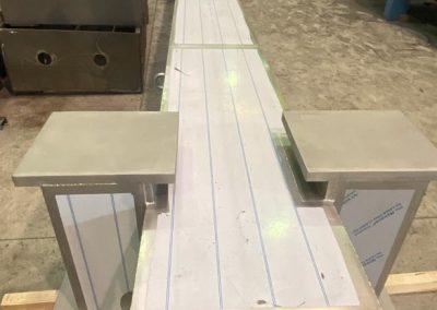 fabricación de una viga en acero s355
