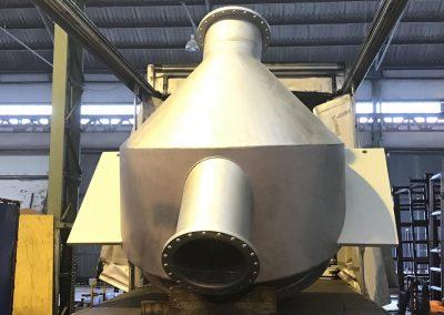 Fabricación de depósitos en acero inoxidable