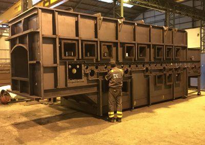 fabricación de un horno en acero inox316 y s-275